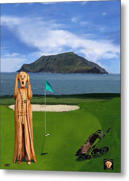 The Scream World Tour Golf  Metal Print