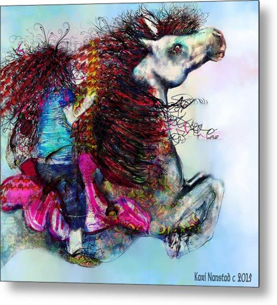 The Sea Horse Fairy Metal Print
