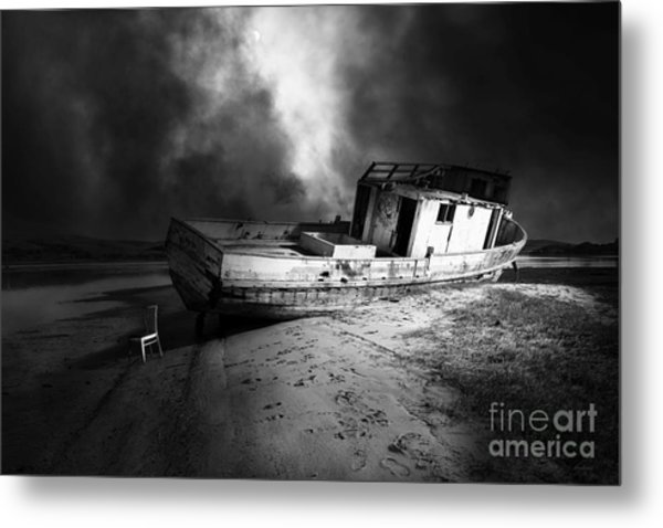 The Sea Never Gives Up Her Dead Dsc2099 Bw Metal Print