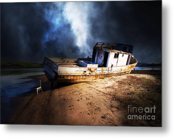 The Sea Never Gives Up Her Dead Dsc2099 Metal Print