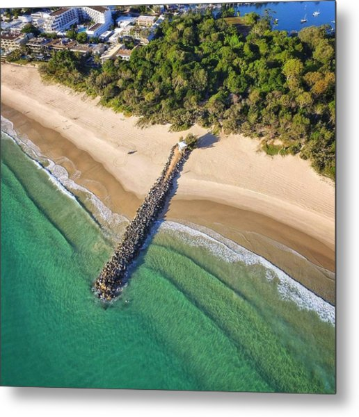 The Sea Wall Near Noosa Main Beach Metal Print