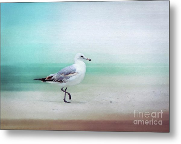 The Seagull Strut Metal Print