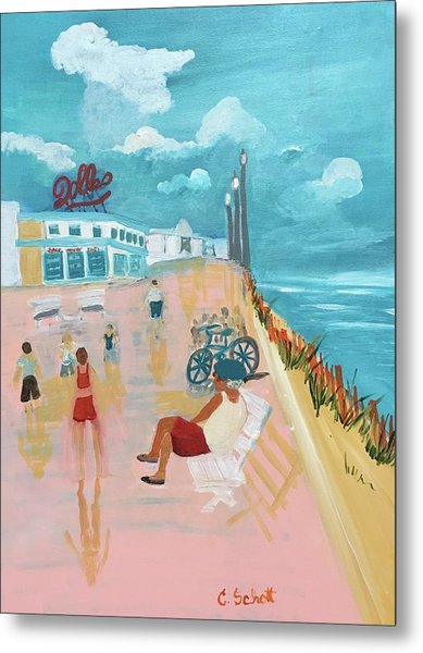 The Seaside Man Metal Print