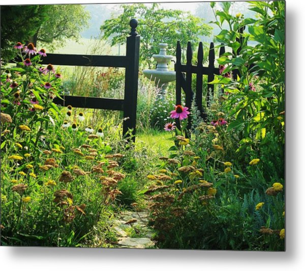 The Secret Garden Metal Print by Joyce Kimble Smith