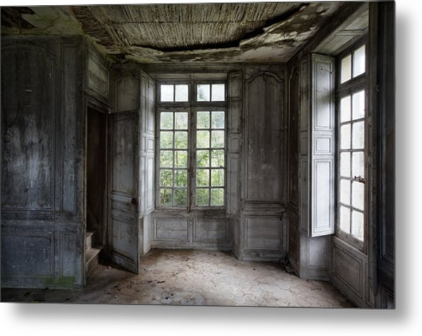 The Secret Stairs To Heaven - Abandoned Building Metal Print