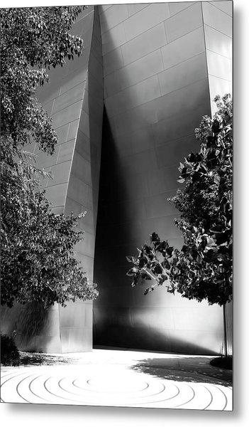 Metal Print featuring the photograph The Sensuous Secret Portal At Disney Hall by Lorraine Devon Wilke