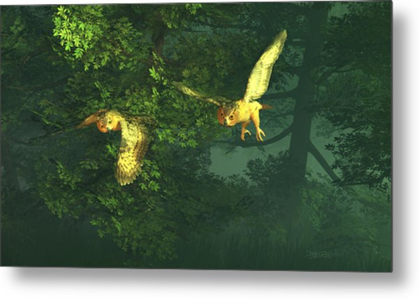 The Sentinels Of Night Metal Print