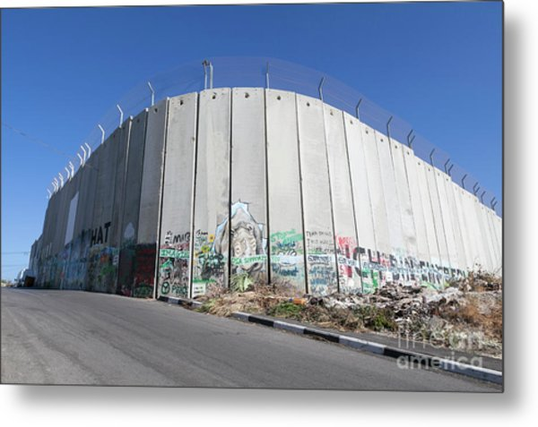The Separation Wall In Bethlehem, Palestine Metal Print by Roberto Morgenthaler