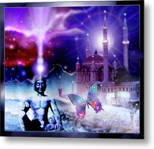 The Serenity Of Wisdom... Metal Print