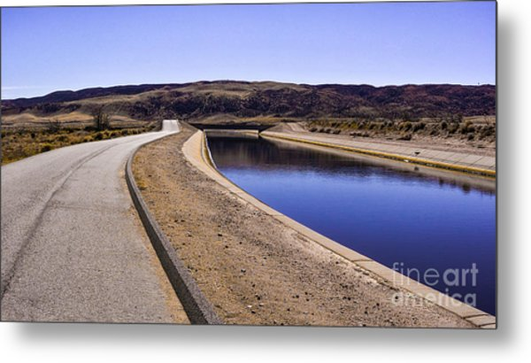 The Service Road Metal Print