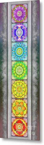 The Seven Chakras - Series 3 Artwork 2.2 Metal Print