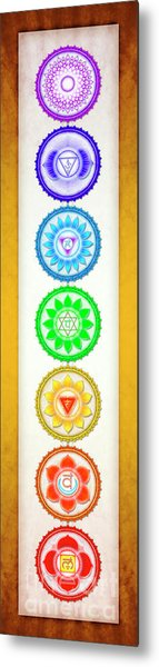 The Seven Chakras - Series 6 Artwork 1 Yellow Golden.2 Metal Print