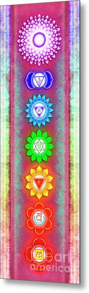 The Seven Chakras - Series 6 Artwork 5 Metal Print