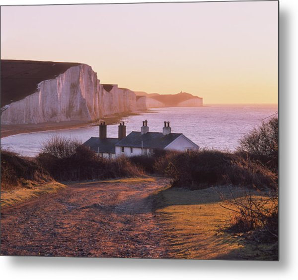 Metal Print featuring the photograph The Seven Sisters Cottages by Will Gudgeon
