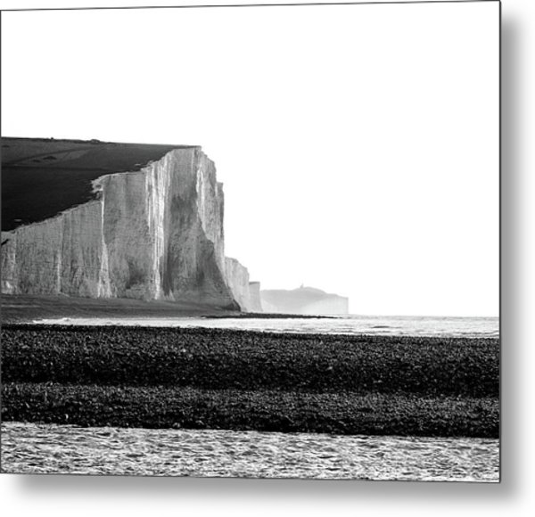 Metal Print featuring the photograph The Seven Sisters, Sussex England  by Will Gudgeon
