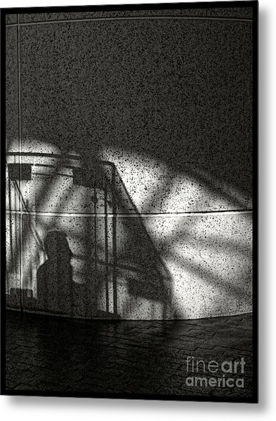 The Shadow Of A Man Metal Print