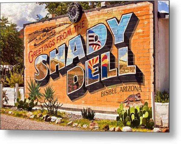 The Shady Dell Bisbee Az Metal Print by Lynn Andrews