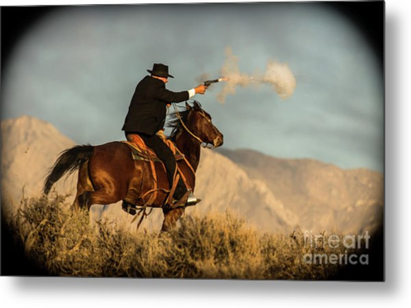 The Sharp Shooter Western Art By Kaylyn Franks Metal Print