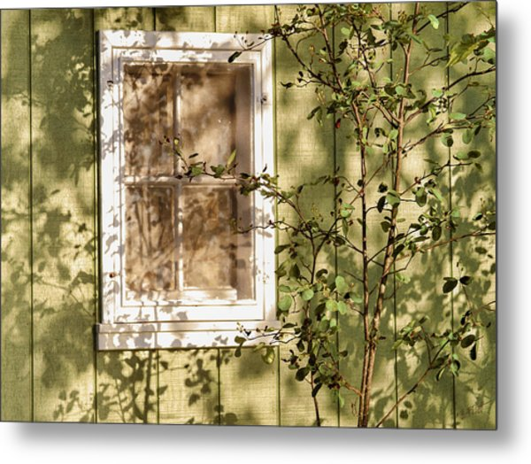 The Shed Window Metal Print