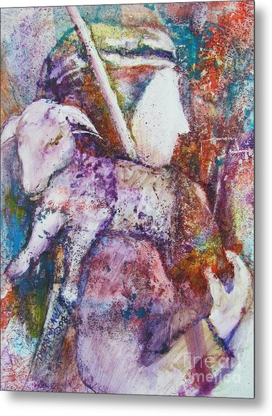 Metal Print featuring the painting The Shepherd by Deborah Nell