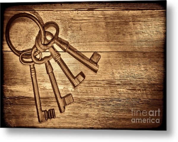 The Sheriff Jail Keys Metal Print
