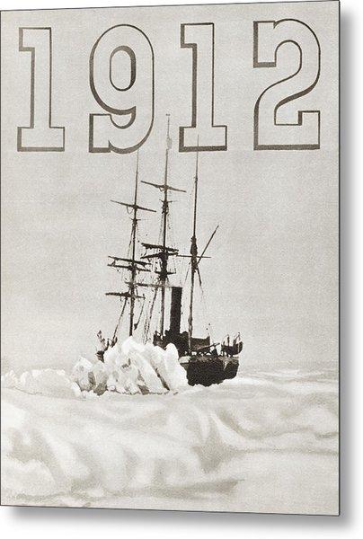The Ship Terra Nova Used By Robert Metal Print