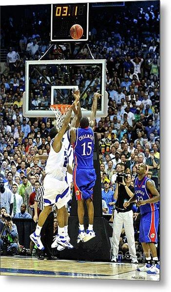 The Shot, 3.1 Seconds, Mario Chalmers Magic, Kansas Basketball 2008 Ncaa Championship Metal Print
