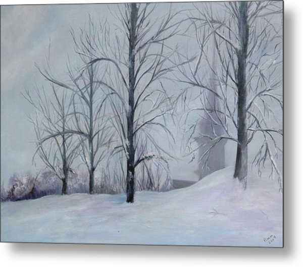 The Silence Of Snow Metal Print by Betty Pimm