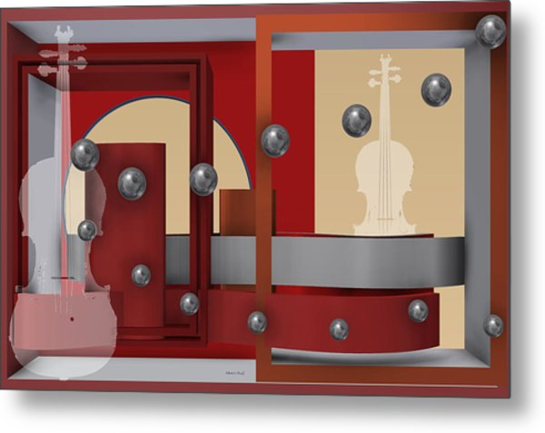 Metal Print featuring the digital art The Singular Song With Silver Balls by Alberto  RuiZ