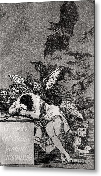 The Sleep Of Reason Produces Monsters Metal Print