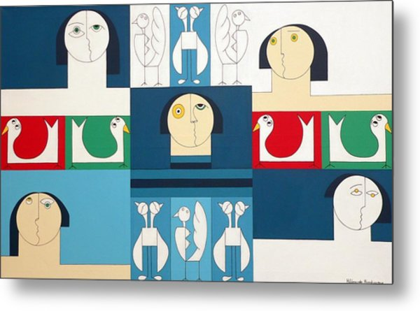 The Sound Of Birds Metal Print by Hildegarde Handsaeme