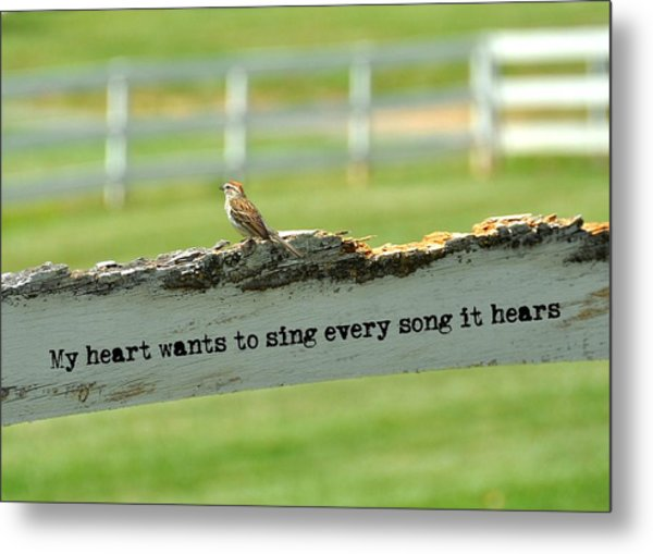 The Sound Of Music Quote Metal Print by JAMART Photography