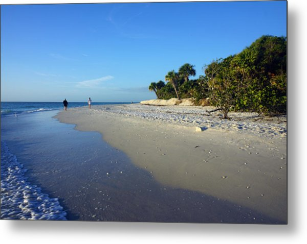 The South End Of Barefoot Beach In Naples, Fl Metal Print