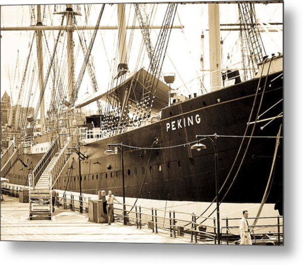 The South Street Seaport Metal Print