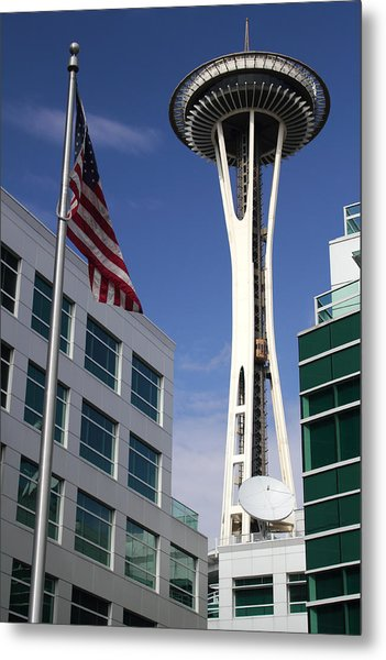 The Space Needle Too Metal Print