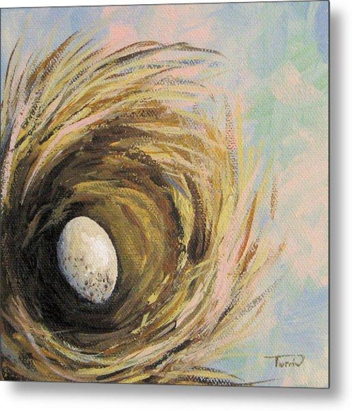 The Speckled Egg Metal Print