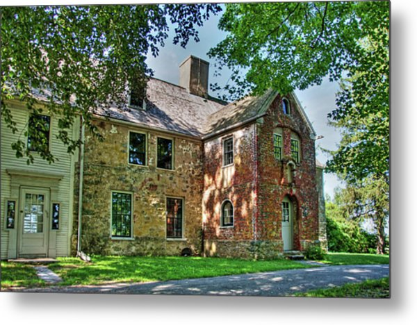 The Spencer-peirce-little House In Spring Metal Print