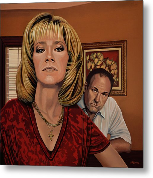 The Sopranos Painting Metal Print