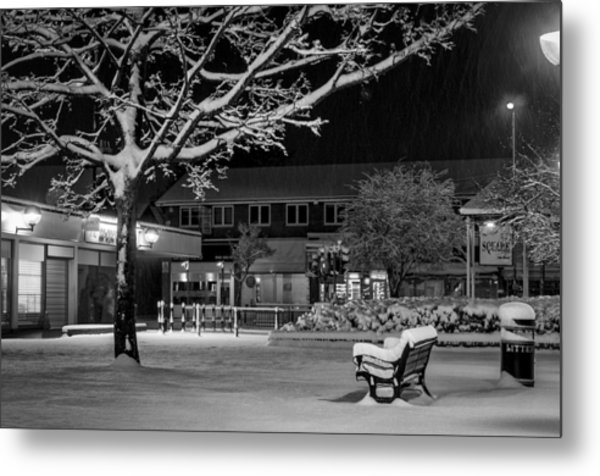 The Square In The Snow Metal Print