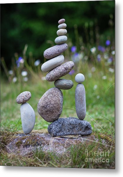 The Stackers Metal Print