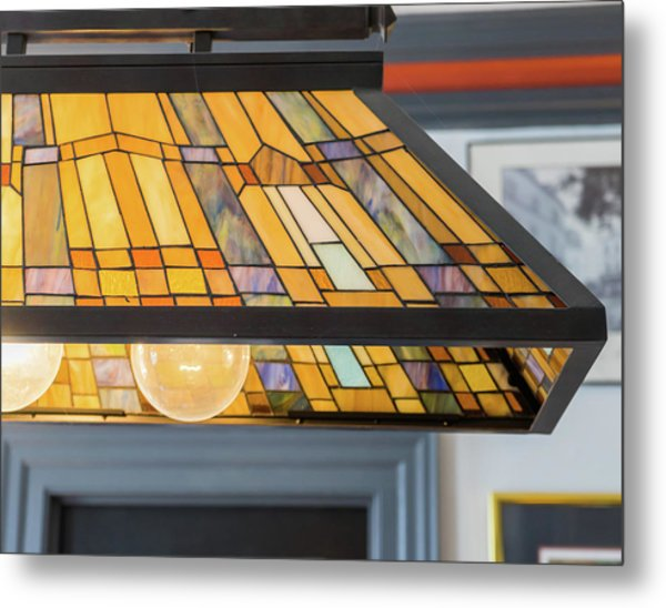 The Stained Glass Metal Print