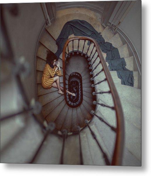 The Stair Romance Metal Print by Anka Zhuravleva