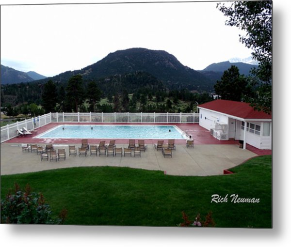 The Stanley Hotel Pool Metal Print