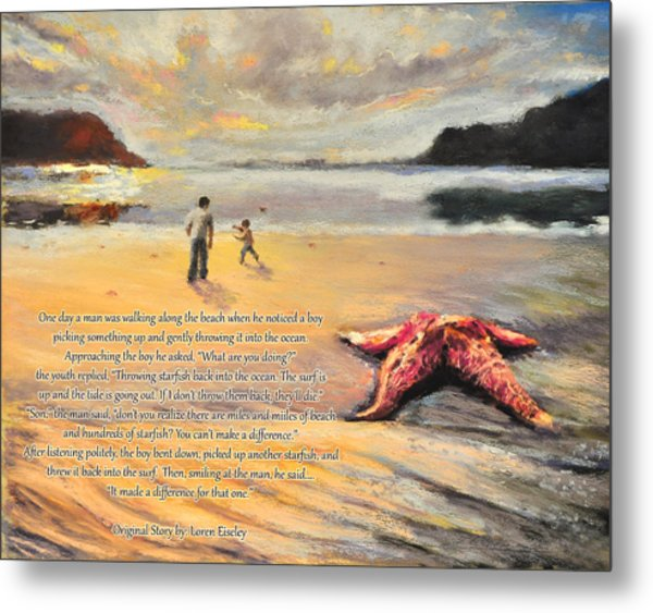 The Starfish Metal Print