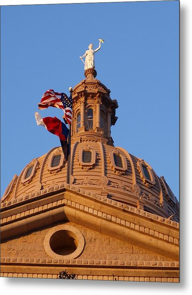 The State Of Texas Capital II Metal Print