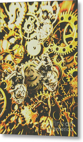 The Steampunk Heart Design Metal Print