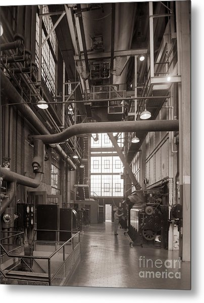 The Stegmaier Brewery Boiler Room Wilkes Barre Pennsylvania 1930's Metal Print