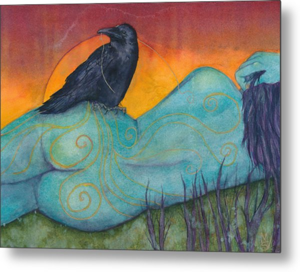 The Still Life With Crow Metal Print