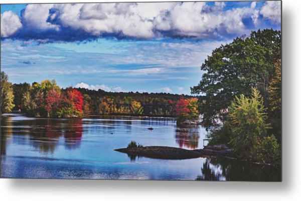 The Stillwater River In Maine Metal Print