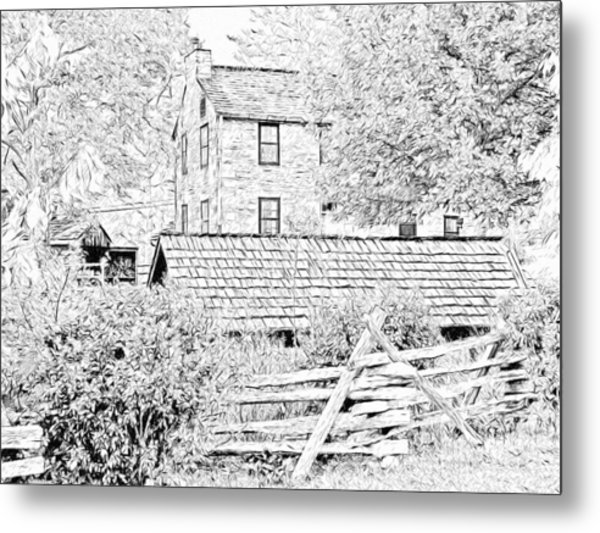 The Stone House At The Oliver Miller Homestead Metal Print